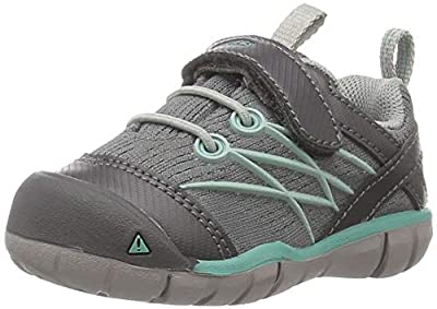 KEEN Baby Chandler CNX Hiking Shoe, Steel Grey/Wasabi, 4 M US Toddler