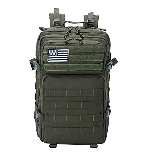 NC 50L Hombres De Gran Capacidad Ejército Mochila Táctica Militar 3P Softback Outdoor Impermeable Camping Caza Bolsas Verde Militar