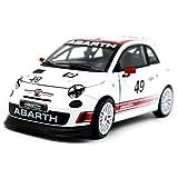 HPDOX Collezionismo-Abarth 500 Assetto Corse 49 Racing - Mini Car - Auto in Lega Simulata, Copia Proporzionale Originale, Modello Pressofuso