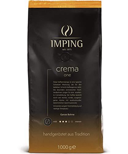 Crema One Schümli Kaffee Geröstete Kaffeebohnen 1kg - Stärke 3/5 - Schweizer Mischung Ganze Bohnen 70% Arabica 30% Robusta - Schuemli Bohnenkaffee handgeröstet aus deutscher Traditionsrösterei