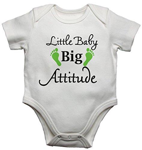 Little Baby Big Attitude Funny Body Gilet pour bébé Body bébé (0–3 mois)