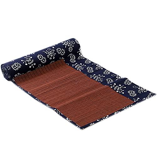 Lqdp Caminos de Mesa Estera de té de bambú Rectangular para la decoración de la Mesa de té/salón de té, Camino de Mesa Lavable para Cortar, Todos los días para Usar (Size : 30x60cm/11.8x23.6in)