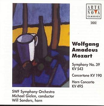 Mozart: Sym. 39 ES-Dur KV 543, Concertone KV 190, Hornkonzert Es-Dur KV 595