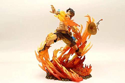 wjf Anime Cartoon Naruto Flame Ace Statue, 25 cm