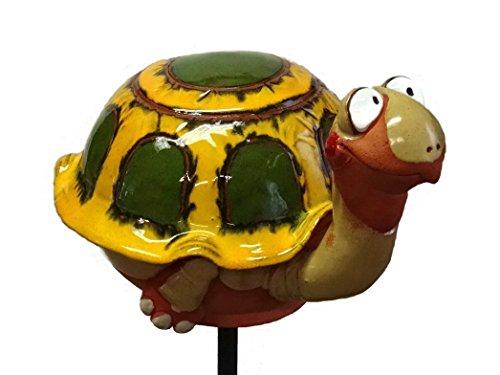 TB Schildkröte Gartenkugel Gartenstecker Blumenstecker Keramik