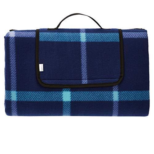 AmazonBasics Picnic Blanket with waterproof backing, 200 x 200 cm