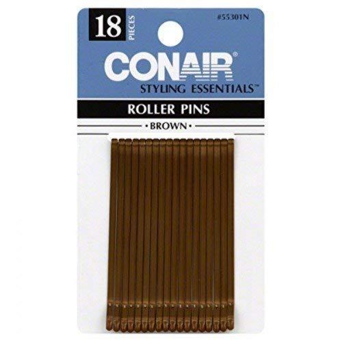 Conair Brown Roller Pins, 6.1 Oz