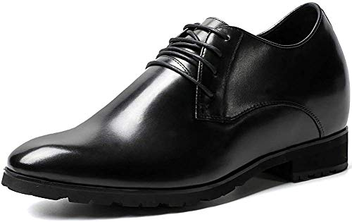 CHAMARIPA Herren Schuhe Oxford Stil Elevator Schuhe Aus Kalbsleder Business Schnürhalbschuhe - 10cm Höher - H52046N071D