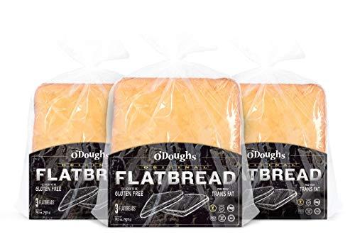 O'Dough Gluten Free Flatbreads, Original,14.4 Ounce [4 Packs]