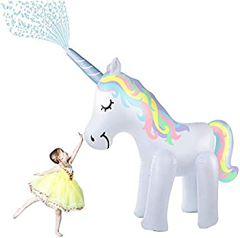 Deceny CB 5.3ft Tall Unicorn Sprinkler Inflatable Water Toys