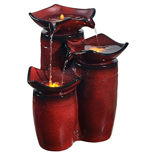 "Peaktop PF001 Outdoor, 20"" Height, Gradient Red Water Fountain"