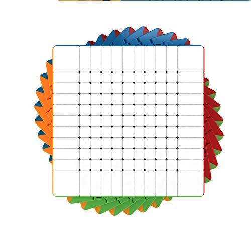 YING El más Nuevo Rompecabezas de Cubo Superior de 11 ° Orden 11x11 Rompecabezas Cuadrado sin Etiqueta Juguetes educativos para niños de Alta Gama de presión Reducida para Juegos