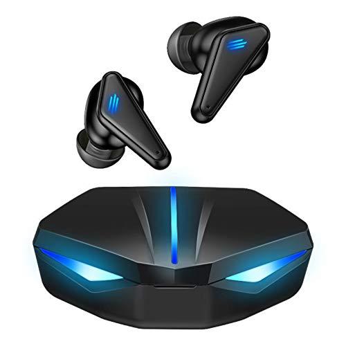 Fone de Ouvido Bluetooth para Jogos JINQII, Fone sem fio Gamer Com Luz de Respiração Colorida, Game| Music Dual Mode, Fone de Ouvido para Jogos para Posicionamento de áudio