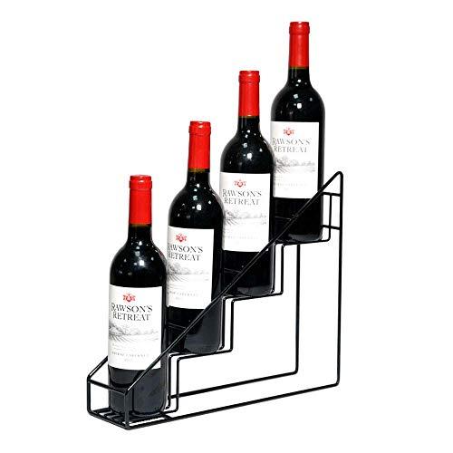 HY-WWK Lagerregal Weinregal Schmiedeeisenregale Home Stehtisch Desktop Gewerblicher Weinschrank Weinständer 32 * 32 * 8 cm,Schwarz,32 * 32 * 8 cm
