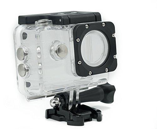 QUMOX 2nd Gen Wasserdicht Gehäuse Tasche Unterwassergehäuse wasserdichte Schützende Gehäuse-Kasten für SJ4000 WiFi SJ4000 Sport-Kamera Helmkamera