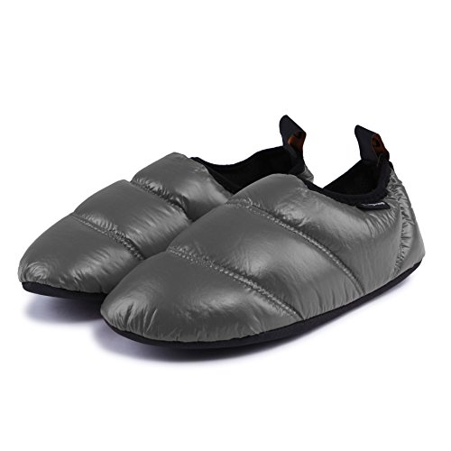 KingCamp Unisex Warm Camping Slippers Soft Winter Slippers with Non Slip Rubber Sole & Carry Bag (7 Colors)