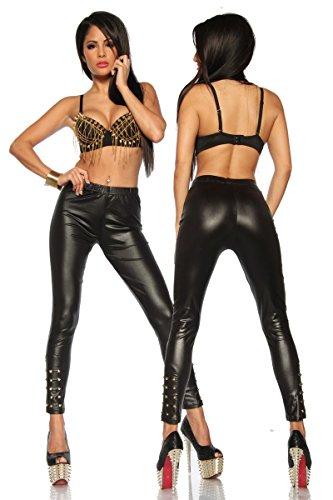 Wetlook leggings zwart