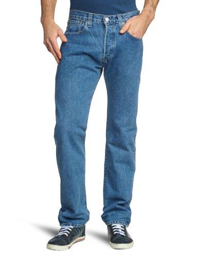 Levi's 501 Original Fit Jeans, Medium Stonewash, 30W / 30L Uomo