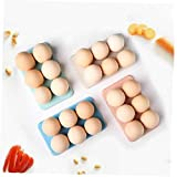 Sostenedor De La Bandeja De Almacenamiento Caja 1pc Huevo Huevo Frigorífico Envase De Alimento Organización del Huevo por Huevo 6 Caso De Caja De Color Azar