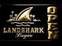 Landshark Open LED看板 ネオンサイン ライト 電飾 広告用標識 W40cm x H30cm イエロー