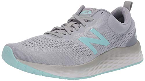 New Balance Women's Fresh Foam Arishi V3 Running Shoe, Grey/Teal, 8 Wide