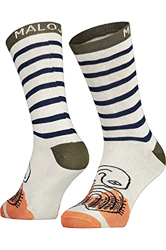 Maloja W Carnationm. Socken Gestreift-Grün-Weiß, Damen Socken, Größe EU 39-42 - Farbe Moss Multi