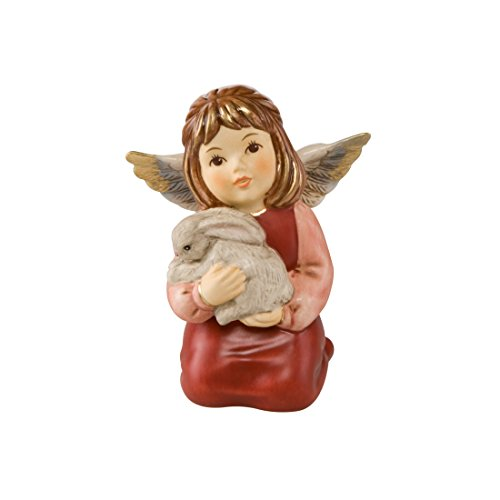 Goebel, Porzellan-Engel, Ich kuschel Mich an Dich, 7 cm x 5,5 cm x 9 cm, 41556291, Bordeaux