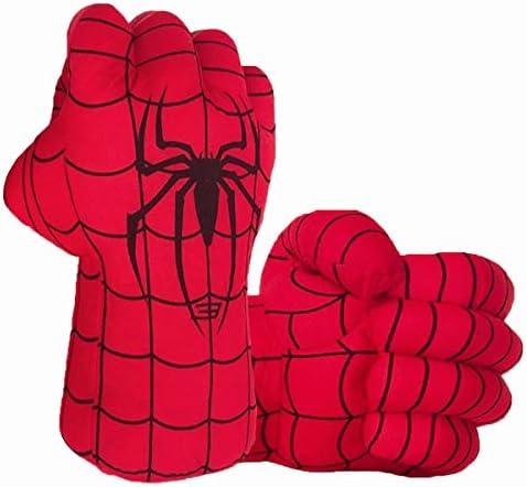 Superhero Gloves Superhero Toy Hands Kids Soft Plush Superhero Gloves Cosplay for Boy Girl Christmas product image
