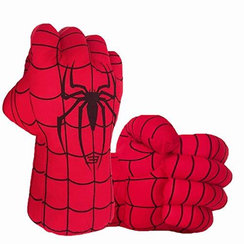 Superhero Gloves Superhero Toy Hands Kids Soft Plush Superhero Gloves Cosplay for Boy Girl Christmas Halloween Birthday Gift