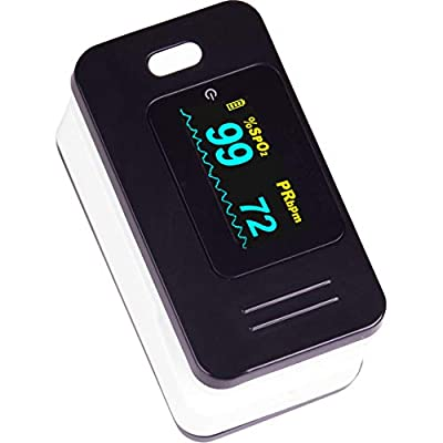 Roscoe Medical Pulse Oximeter Oxygen Monitor - Finger Oxygen Saturation Monitor Fingertip - for Health and Wellness Use