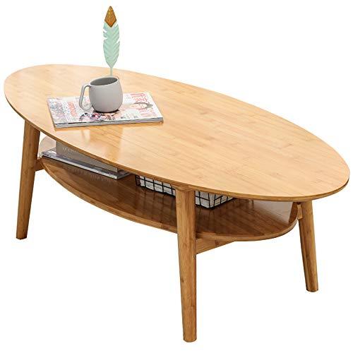 Bambus Couchtisch, Kreativer Beweglicher Mini Picknick Tisch Snack Tisch Schlafzimmer Wohnzimmer Balkon Family Office,100x55x40.5cm