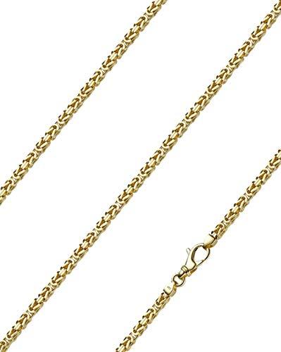 Königskette massiv 14 Karat 585 Gelbgold 60cm lang und 3,0mm breit