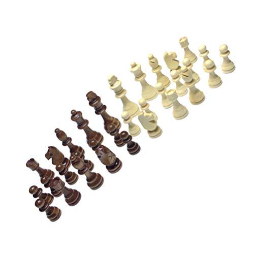 Gadpiparty 32 st träschackdelar för byte av saknade delar (7,6 cm)