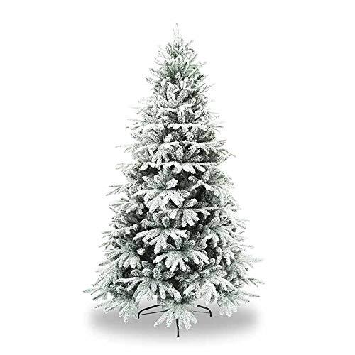 Stilè Albero di Natale Artificiale H.240 CM D.150 CM Verde INNEVATO FOLTO di ALTISSIMA QUALITA', Effetto Realistico, Rami A Gancio, 2659 Tips in PE+PVC, Base Metallica, Facile Montaggio