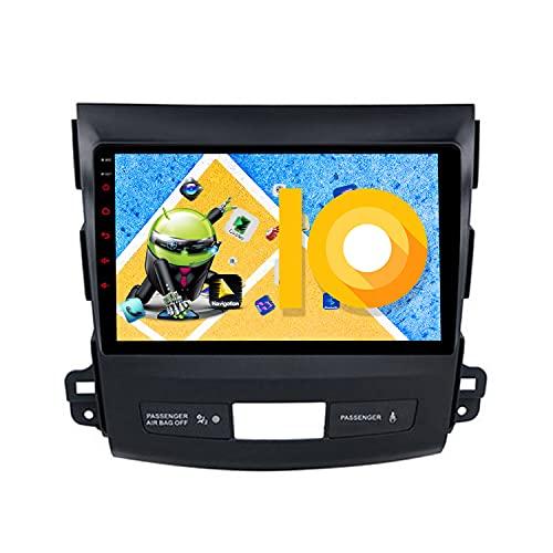 ZWNAV 9 pollici Android 9.1 Autoradio per Mitsubishi Outlander 2006-2011, Peugeot 4007 2007-2012, Citroen C-Crosser 2007-2012, Navigazione GPS, WiFi, Bluetooth, AM/FM, SWC, 3G/4G slot per SIM Card