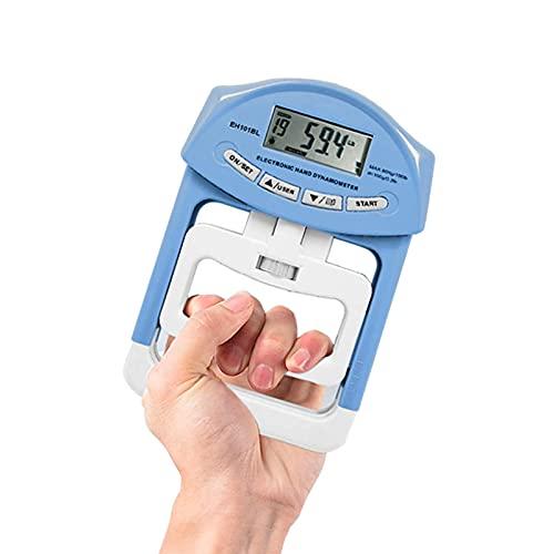YOMERA Medidor Digital de la Fuerza de la Mano, Dinamómetro de Mano Ajustable de Mano Medidor de Fuerza de Agarre de 90 kg / 200 lbs de Rango de Capacidad de fortalecimiento de la Mano
