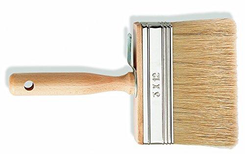 PROFI Flächenstreicher 3 x 12 cm KX7 Borsten Maler Quast Malerbürste Flächen Pinsel Lack für wasserverdünnbaren und lösemittlehaltigen Lacke