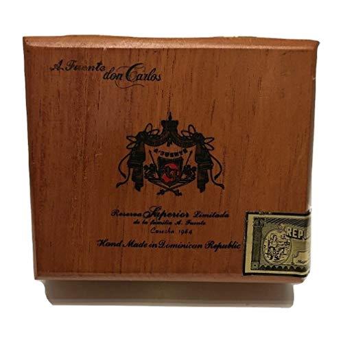 Maleta de cigarros Caja de la caja Arturo Fuente prima de madera del cigarro por Crafts, guitarras o almacenamiento (Magnum R Vitola) Humidor de cigarros. ( Size : Don Carlos Reserve No 4 )