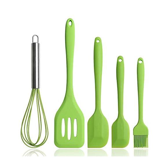 BINHAI Silicone Cooking Kitchen Utensil Set - Green