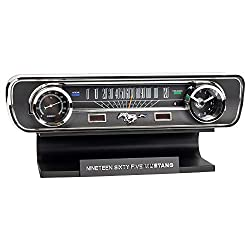 Ford 1965 Mustang Vintage Dashboard Tabletop Desk Thermometer Sound Clock