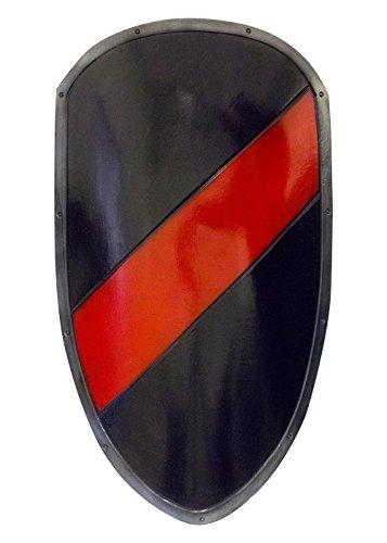 Epic Armoury Ready for Battle Großschild in Schwarz/Rot aus Schaumstoff LARP Ritter Schild LARP Mittelalter Wikinger