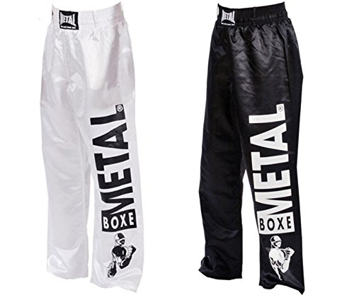 Metal Boxe-Pantaloni Full Contact visual Metal Boxe, colore: bianco, 170)