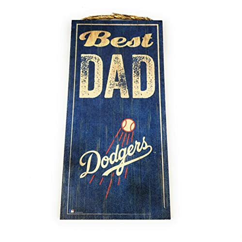 Fan Creations MLB Los Angeles Dodgers Unisex Los Angeles Dodgers Best Dad Sign, Team Color, 6 x 12