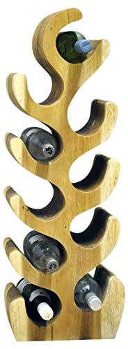 HoitoDeals 1 pz Legno 10 Bottiglia Vino Rack Stand Storage Mensola Per La Casa Conservare Bottiglia di Vino