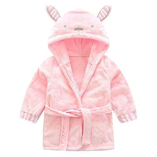 sunnymi 1-5 Jahre Baby Mädchen Kinder Bademantel Cartoon Tiere Mit Kapuze Handtuch Pyjamas Kleidung