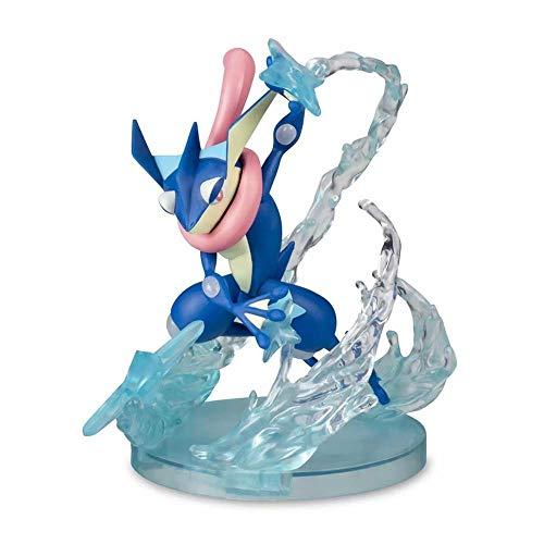 JINGLU Pokemon Q Versión Greninja Animado Figura PVC Decoración Hecha A Mano Estatuilla rol Juguetes Estatua 13CM