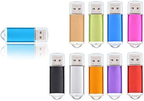 Bulk 10 Pack 8GB USB 3 0 Flash Drive Thumb Drives Mini 8 GB Multicoloured Metal USB3 0 Memory product image