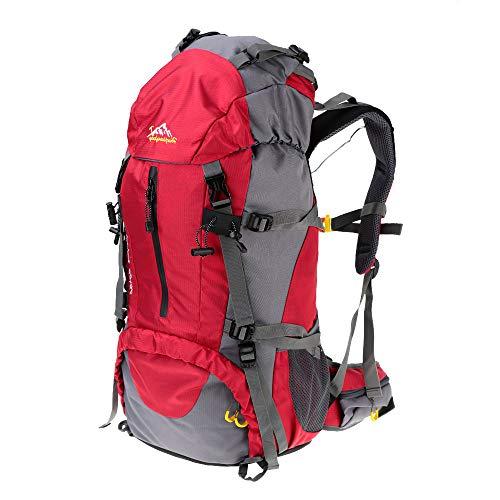 Lixada Mochila de Senderismo 50L con Cubierta Impermeable de Marcha Trekking Camping