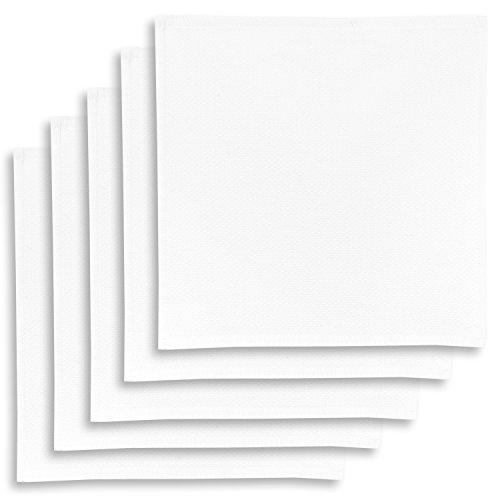 ziczac-affaires KRACHT, 5er-Set Geschirrtuch, Spültuch, Multifunktion Baumwolle Weiss, Edition, ca.30x30cm