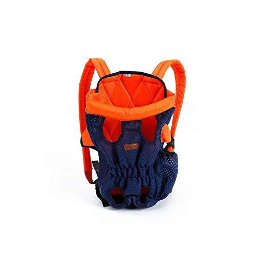 LINZXU-Tela Oxford ademende reis-rugzak wasbaar in de wasmachine gemakkelijk transporttas voor honden katten geschikt voor puppy's oranje, M